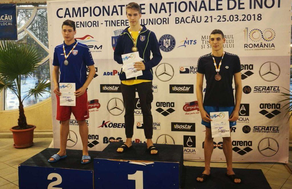 Trei medalii pentru înotătorii Coronei la Campionatul Național de la Bacău