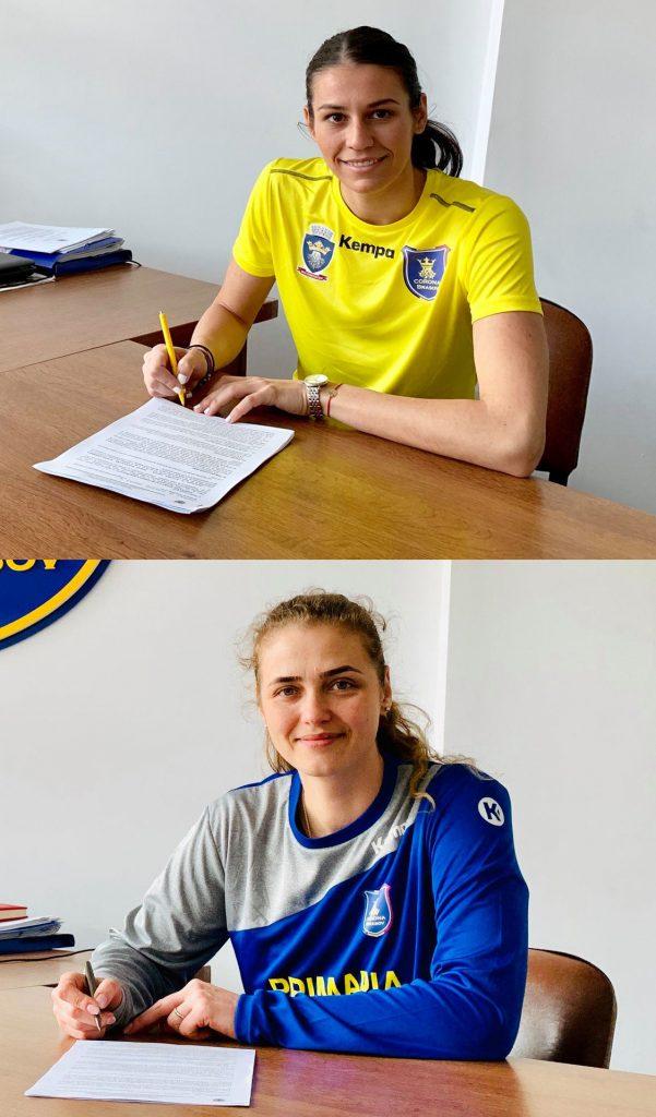 Viktoriia Tymoshenkova şi Andreea Pătuleanu au semnat prelungirea contractelor cu Corona Braşov