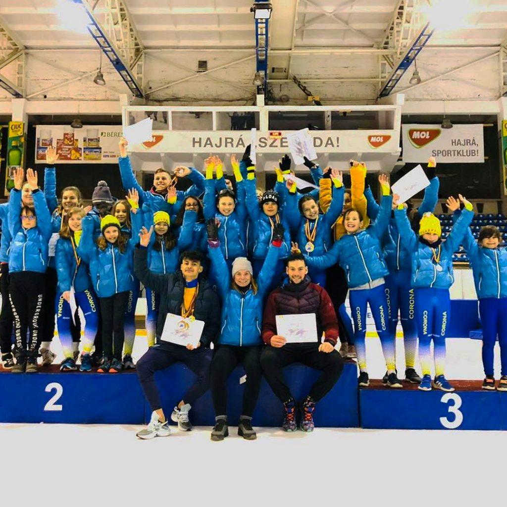 Zece titluri de campion naţional şi 14 de vicecampion pentru patinatorii Coronei