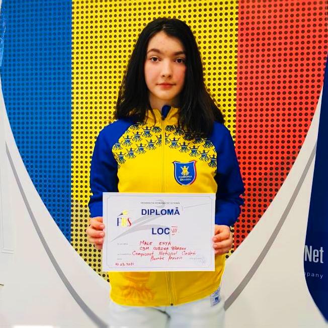 Floretista Coronei, Enya Male, s-a remarcat la Campionatul Național de Cadeți