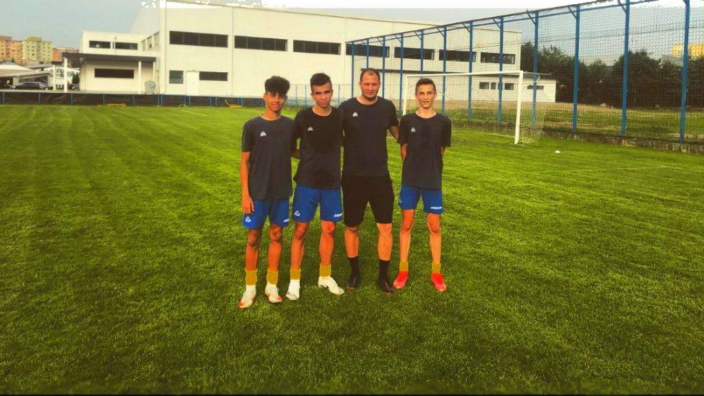 Trei juniori au fost convocați la lotul național U15
